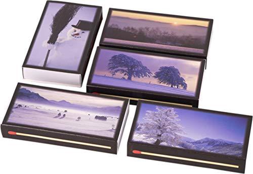 LK Trend & Style 5 Packungen a 50 Stück XXL Streichhölzer Winter mit 100mm Länge/Kaminhölzer mit hübschen winterlichen Motiven