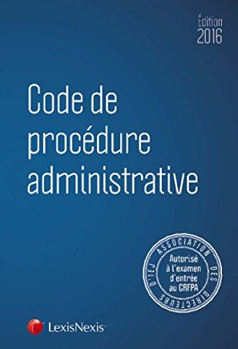Code de procédure administrative 2016