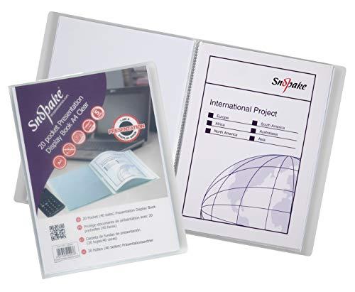 Snopake Superline Präsentationsmappe mit 20 transparenten Hüllen, A4, Polypropylen