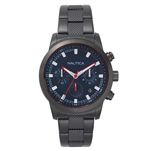 Nautica Taylor Collection - Reloj Casual de Cuarzo para Hombre, Acero Inoxidable, Color Plateado (Modelo: NAPTYR005)