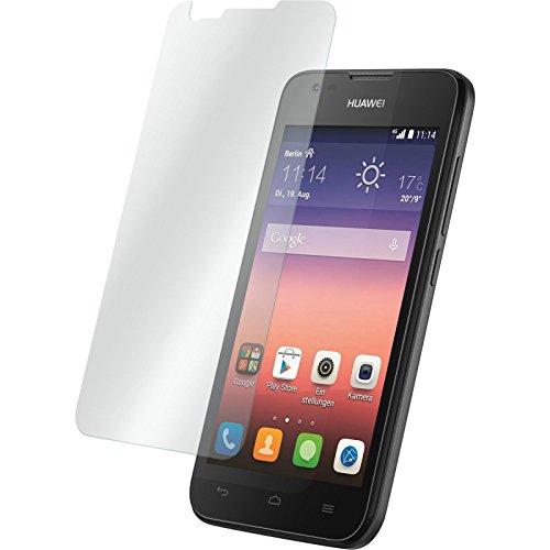 PhoneNatic 1 x Glas-Folie klar kompatibel mit Huawei Ascend Y550 - Panzerglas für Ascend Y550