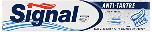 Signal Dentifrice Anti-Tartre, Limite la Formation de la Plaque Dentaire et Freine la Calcification (75ml)
