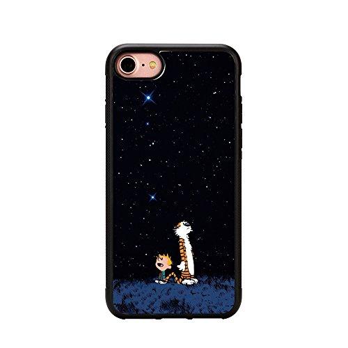 Capa para iPhone 7 Calvin e Hobbes, Capa para telefone Calvin e Hobbes para iPhone 7 4,7 polegadas Capa de TPU