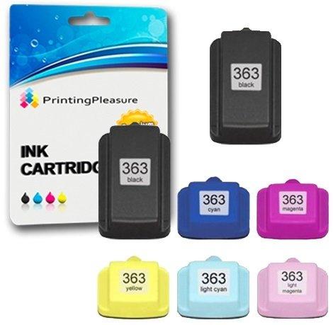 Printing Pleasure 6 XL Compatibili HP 363 Cartucce d'inchiostro per Photosmart