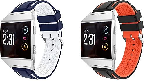 Gransho Correa de Reloj Recambios Correa Relojes Caucho Compatible con Fitbit Ionic - Silicona Correa Reloj con Hebilla (Pattern 1+Pattern 9)