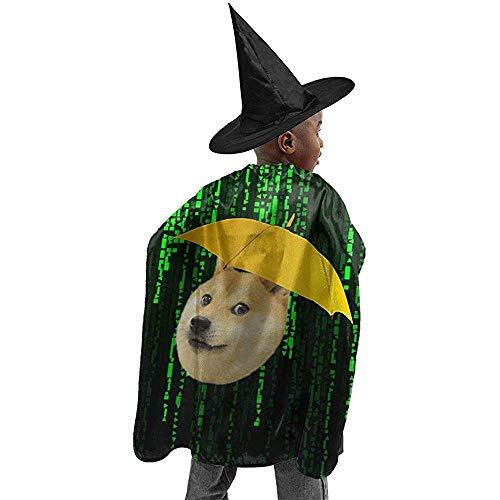 Zauberermantel,Cape Hexe,Zauberer Mantel,Cape Zauberer,Hexen Umhang,Wizard Cape,Witch Cloak,Hexen Mantel,Witch Cape,Wizard Cloak,Lustige Regenschirm Hund Halloween Hexe Cosplay Kostüme Robe Cape