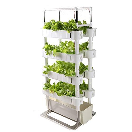 ZDYLM-Y Hydroponische Anzuchtsysteme mit Timer und Fülllicht, 4 Schichten Home Vertical Garden Tower, für Gemüse Pflanzer