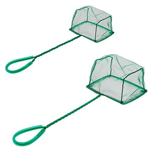 Uniclife Aquarium Fischnetz Set Fischfangnetze mit Kunststoffgriff, 15 cm und 10 cm Packung