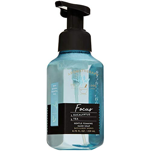 Bath and Body Works Aromatherapy FOCUS - EUCALYPTUS + TEA Gentle Foaming Hand Soap 8.75 Fluid Ounce