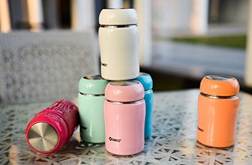 Bluelover 250Ml Tasse Portable Mini Nouvelles Tasses Isotherme Boire Tasse Café Tasse De Voyage Pour Les Dames-Orange + Accessoires De Guitare