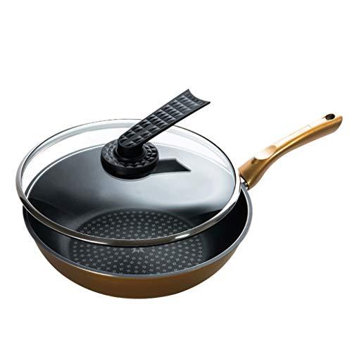 WYJBD Sartén antiadherente importada original sin humo sartén wok de fondo plano...