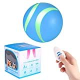 Smart Interactive Cat Toy Ball,USB Rechargeable,RGB LED Flashing Light,Auto Rolling/Vibration/Rotating/Shaking Wicked Roller Pet Toys Electric Dog Bounce Ball with Remote Control for Furry Family,Blue
