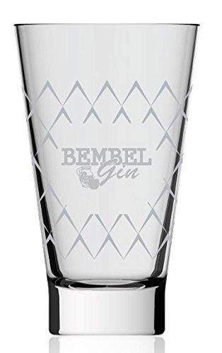 Bembel Gin Glas - Gin Tonic Gläser mit Apfelwein Raute - Gin&Tonic Geripptes - Hessen