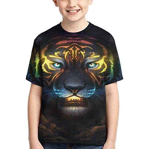 XCNGG Youth Short Sleeve T-Shirts Astronomical Signs Kids Casual Graphics Tees