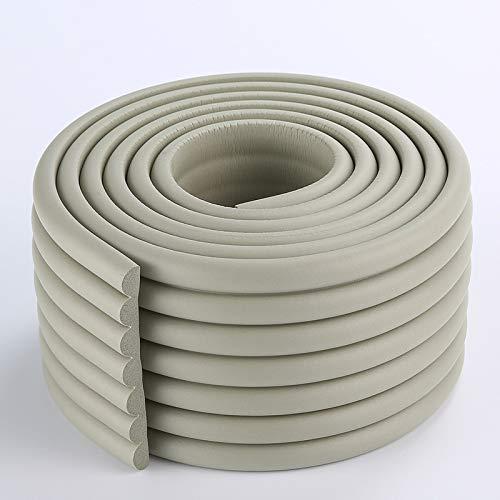 KUMADAI Protector Bordes Bebe, Forma W Material NBR Protector Enchufes para Bebes Espuma Protectora Impermeable a Prueba de Manchas 2m/78 Pulgadas,Gris