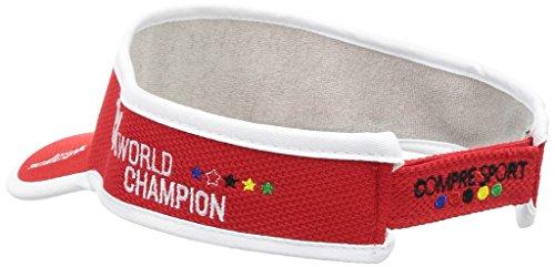 COMPRESSPORT(コンプレスポーツ)バイザーキャップレッドフリーサイズ