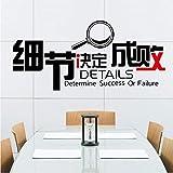 Cczxfcc Decoración Del Hogar Diy - Los Detalles Determinan El Éxito O El Fracaso - Cartas Para El Diseño De Pegatinas De Decoración De La Empresa Pósters