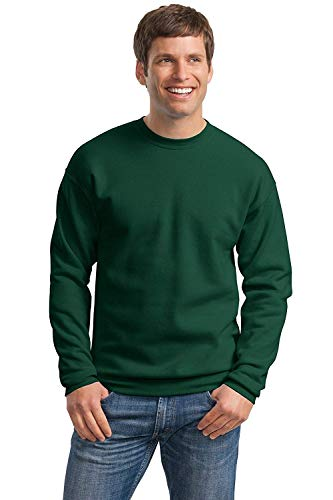 Hanes Mens Comfortblend EcoSmart Crewneck Sweatshirt, L, Deep Forest