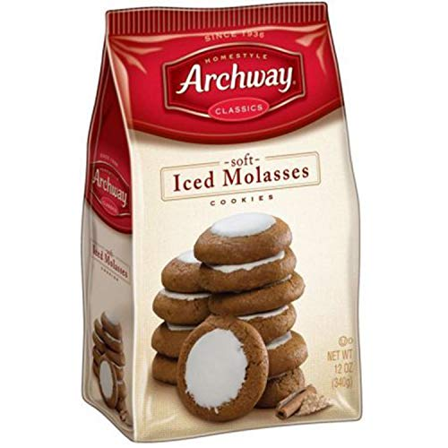 Archway Iced Molasses Cookies, 12 Ounce (Pack of 2)