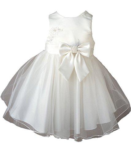 Cocolina Elena Taufkleid Weiß Festkleid Blumenmädchen Hochzeitkleid (3A - 92/98)