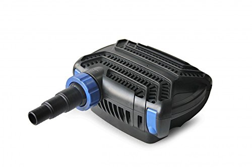 Aquaristikwelt24 CTF-B 7000 Teichpumpe 50 Watt Eco Motor 7000 l/h 2in1 System Förderpumpe Pumpe Energiesparpumpe Filterpumpe Wasserpumpe