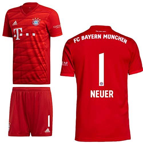 adidas FCB FC Bayern München Home Kit Heimset 2019 2020 Kinder Neuer 1 Gr 164