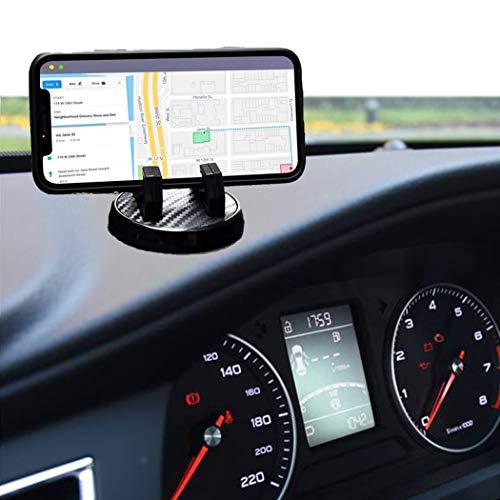携帯ホルダー ホルダー 車載 スマホ車載ホルダー 車用品 マグネット付き 磁石 スマートフォンカーマウント 全機種対応 自由調節 車スマホスタンド ダッシュボード・デスクにも 一時停止の標識 360度回転 ナビ対応 スマートフォン用 (ブラック)
