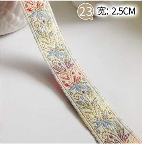 1M Vintage etnische geborduurd lint Boho Lace Trim geborduurde stof voor DIY kleding tas gordijn naaien accessoires, KK, 1M