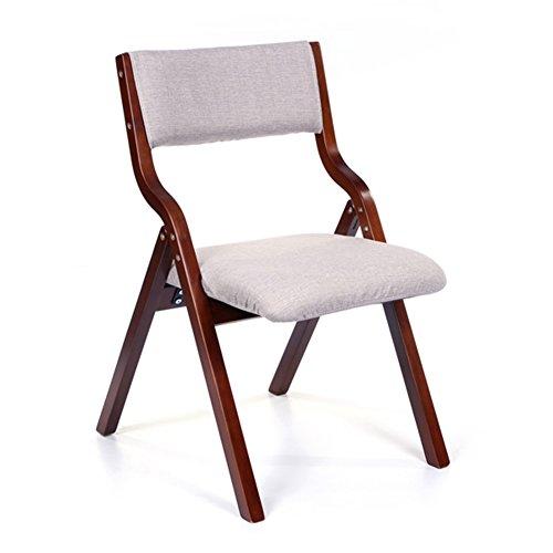HTZ Klappstuhl Mode Klappsessel Schreibtisch Computer Massivholz Baumwolle Und Leinen Rückenlehne Lounge Stuhl Esszimmerstuhl A++