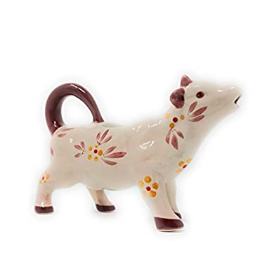 Temp-tations Old World Dairy Cow Creamer Gravy Boat (Old World Cranberry)
