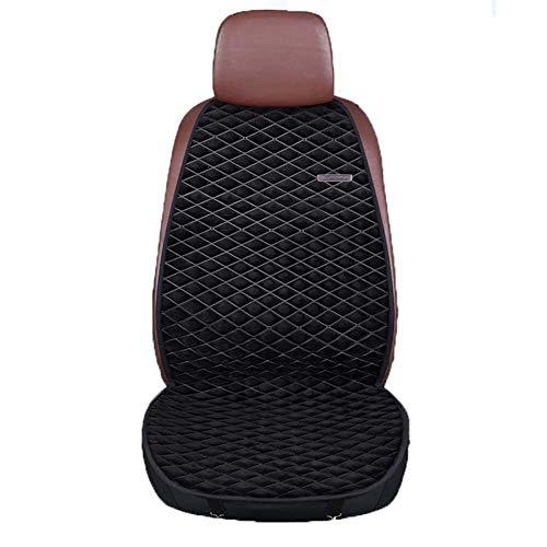 Autostoelkussen, winter nieuw verwarmd zitkussen, 12v, 24v autothermostaat zitkussen, enkele stoel en twee zitplaatsen,Black