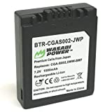 Wasabi Power Battery for Panasonic CGA-S002, CGA-S002A, CGA-S002E, DMW-BM7 and Lumix DMC-FZ1, DMC-FZ2, DMC-FZ3, DMC-FZ4, DMC-FZ5, DMC-FZ10, DMC-FZ15, DMC-FZ20