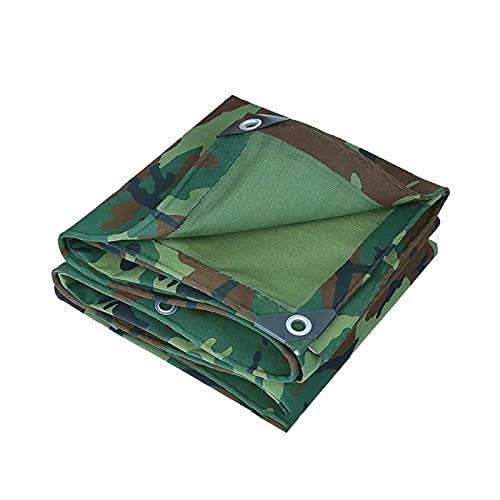 AWSAD Lona Impermeable Prueba Polvo 0,38mm Espesor Lona de Polietileno Plástico Impermeable con Ojales para Patio Al Aire Libre Acampa Techo, 25 Tamaños (Color : Green, Size : 5x7m)