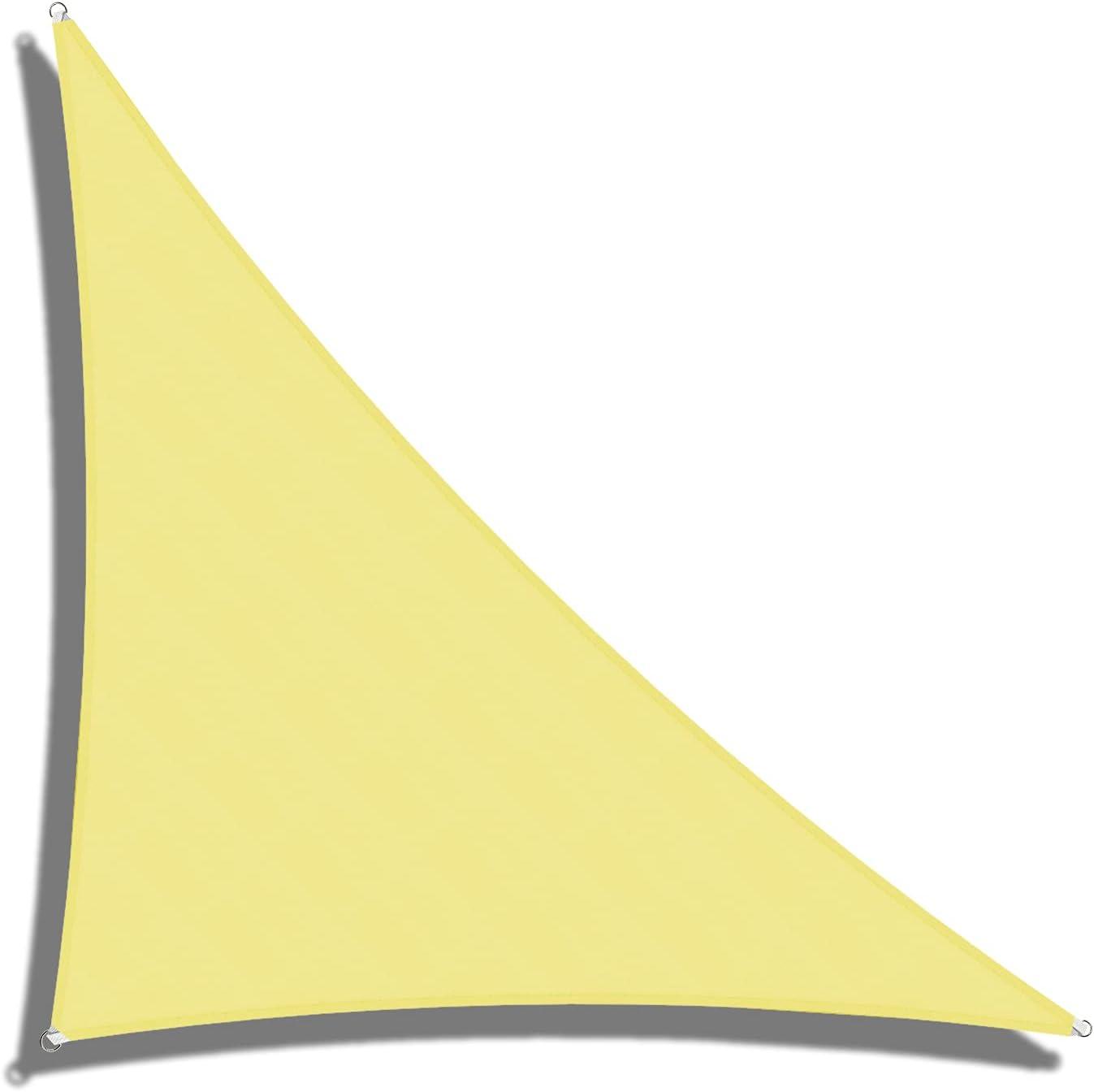 Coarbor 12' x 17' 5☆大好評 Triangle Light Sun Waterproof Yellow Sha バースデー 記念日 ギフト 贈物 お勧め 通販