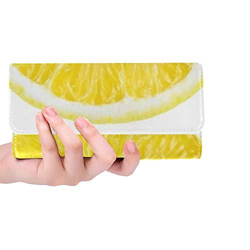 Einzigartige benutzerdefinierte zitrusfrucht orange Lemon Limette scheiben Frauen Trifold Wallet Lange geldbörse kreditkarteninhaber case Handtasche