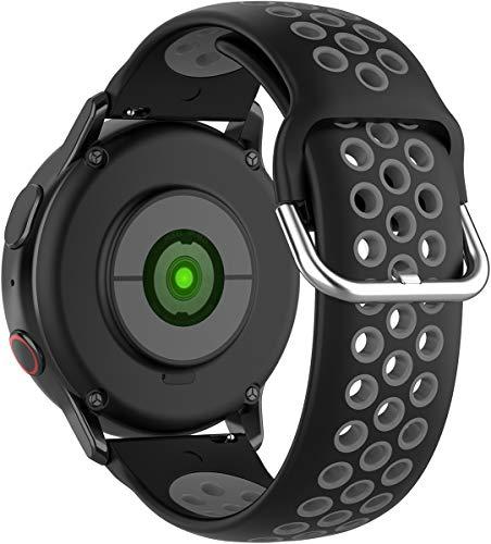 BarRan Compatível com vivoactive4,amazfit GTR 47mm,amazfit pace,AMAZFIT stratos pulseira de relógio,22mm Soft Silicone Replacement para Gear S3 Frontier/S3, HUAWEI MagicWatch 2 46MM,HUAWEI GT,GT2