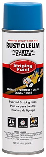 Rust-Oleum 263446 Industrial Choice Inverted Striping Spray Paint 18 oz, Dark Blue