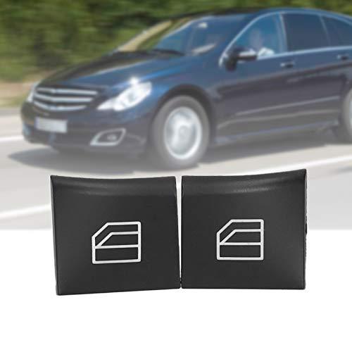 Cubierta del botón del interruptor de la ventana, tapa del botón de elevación de la ventana antidesgaste con resistente a los arañazos para el automóvil