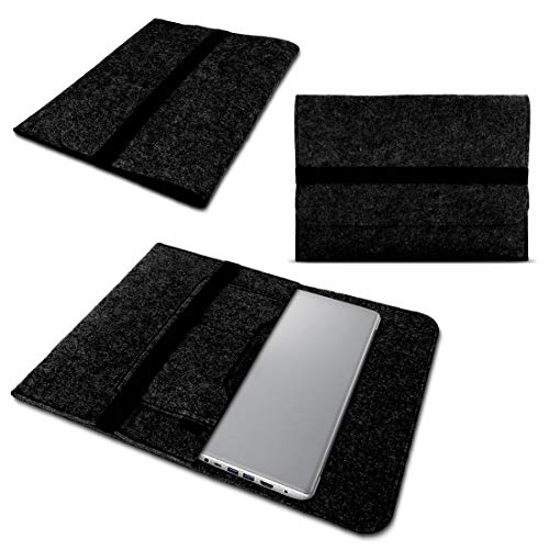 NAUC Lenovo Thinkpad Yoga 370 Tasche Hülle Filz Sleeve Hülle Schutzhülle Notebook Cover, Farben:Dunkel Grau