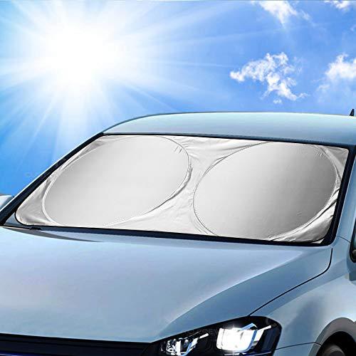 Orlegol Auto Sonnenschutz Frontscheibe, Sonnenblende Auto Frontscheibe, Sonnenschutz Windschutzscheibe, Auto Sonnenblende UV-Schutz, Universal Frontscheibenabdeckung für Kinder, Hunde, Babys -160x86cm