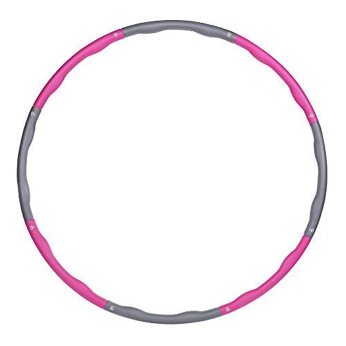 GronG(グロング) フラフープ 大人用 組み立て式 95cm 8本組 ピンク