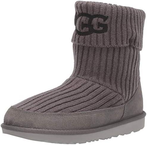 UGG Kids Ugg Knit Boot Charcoal 4 M US Big Kid product image