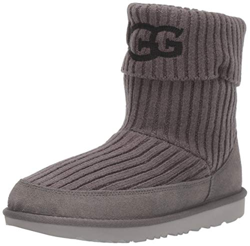 UGG Kids' Ugg Knit Boot, Charcoal, 5 M US Big Kid
