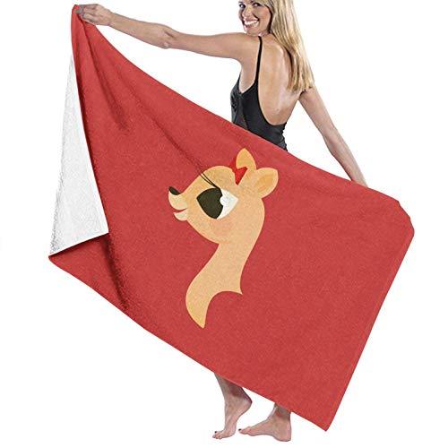 N\ Rudolph The Red-Nosed Renna - Clarice Asciugamano da bagno ad asciugatura rapida