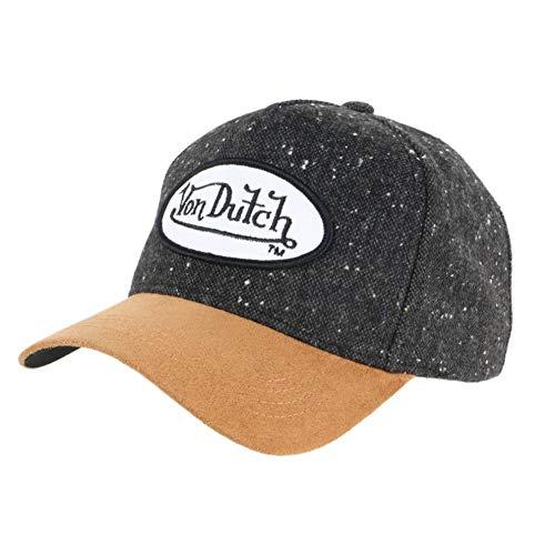 Von Dutch - Gorra de piel para béisbol vintage, unisex, color marrón...