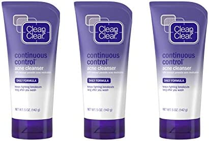 Clean Clear Continuous Control Benzoyl Peroxide Acne Face Wash with 10 Benzoyl Peroxide Acne product image