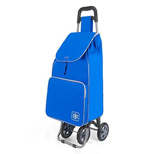 Metaltex Aloe Einkaufswagen mit 4Rollen, Metall, 120x 60x 6cm 120x60x6 cm blau