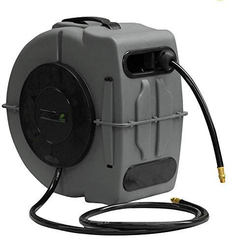 """Yerd Automatik Luftschlauch-Trommel Drucklufttrommel PVC-Gewebe Schlauchtrommel 1/4""""Schnellkupplung Druckluftschlauch-Aufroller (20m (19+1m))"""