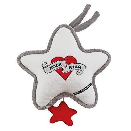 ROCK STAR BABY® by Tico Torres Spieluhr - Brahms Wiegenlied, Einschlafhilfe für Babys, Musikspieluhr, Schlafhilfe zum Aufhängen - Heart & Wings