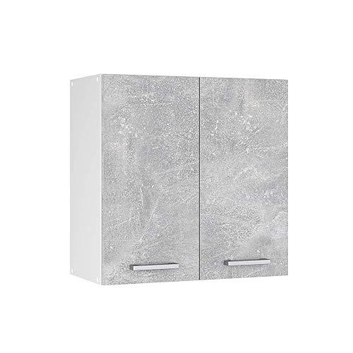 Vicco Küchenschrank R-Line Hängeschrank Unterschrank Küchenzeile Küchenunterschrank Arbeitsplatte, Möbel verfügbar in anthrazit und weiß (Beton ohne Arbeitsplatte, Hängeschrank 60 cm)